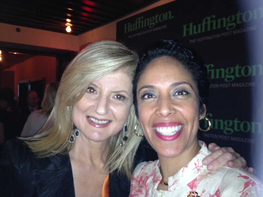 Author Arianna Huffington with Anna Maria Chávez