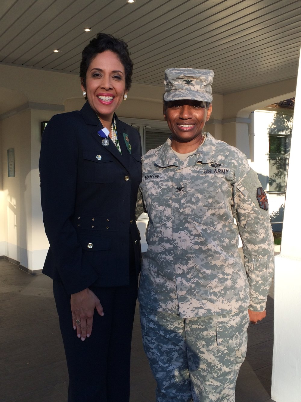 Colonel Mary L. Martin with Anna Maria Chávez