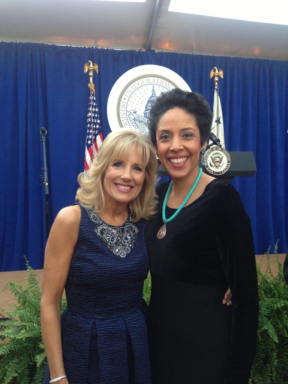 Dr. Jill Biden with Anna Maria Chávez
