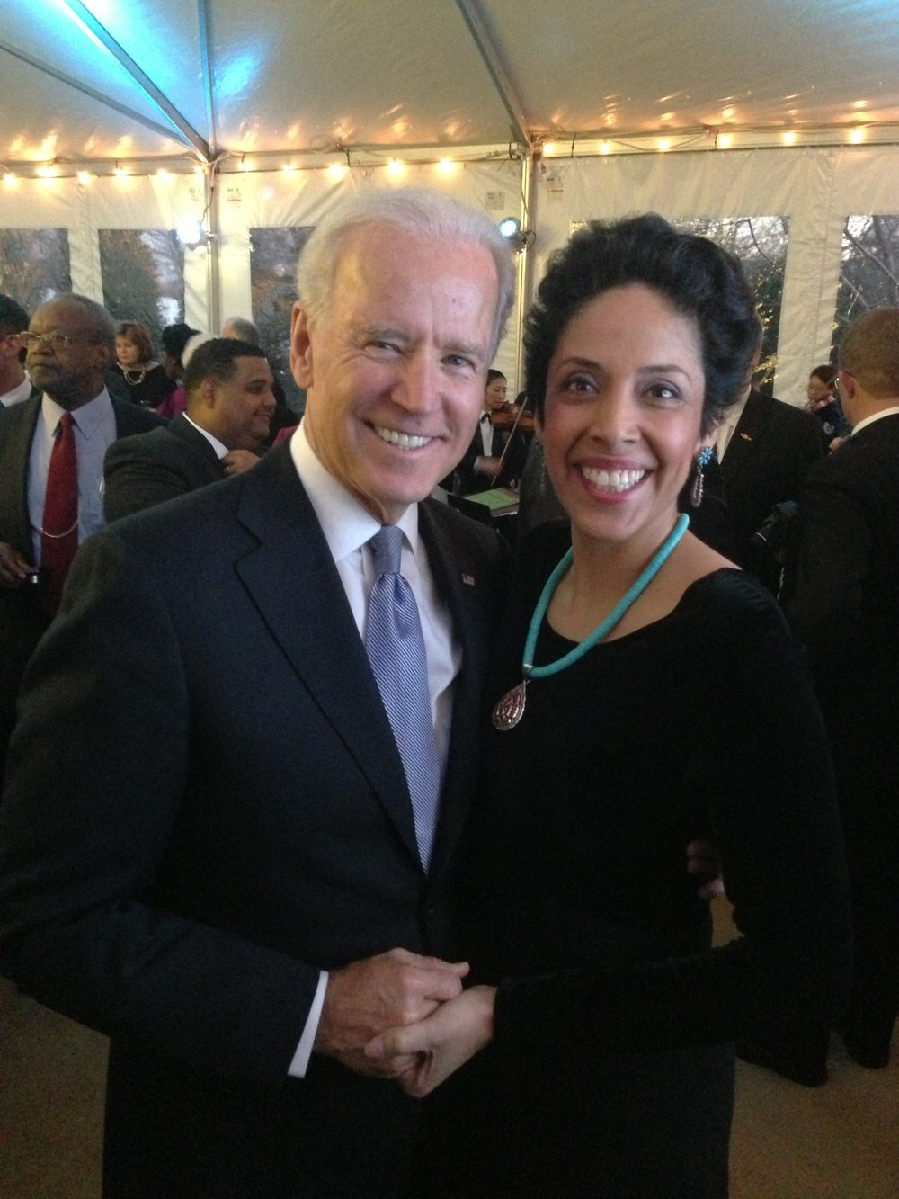 Vice President Joe Biden with Anna Maria Chávez