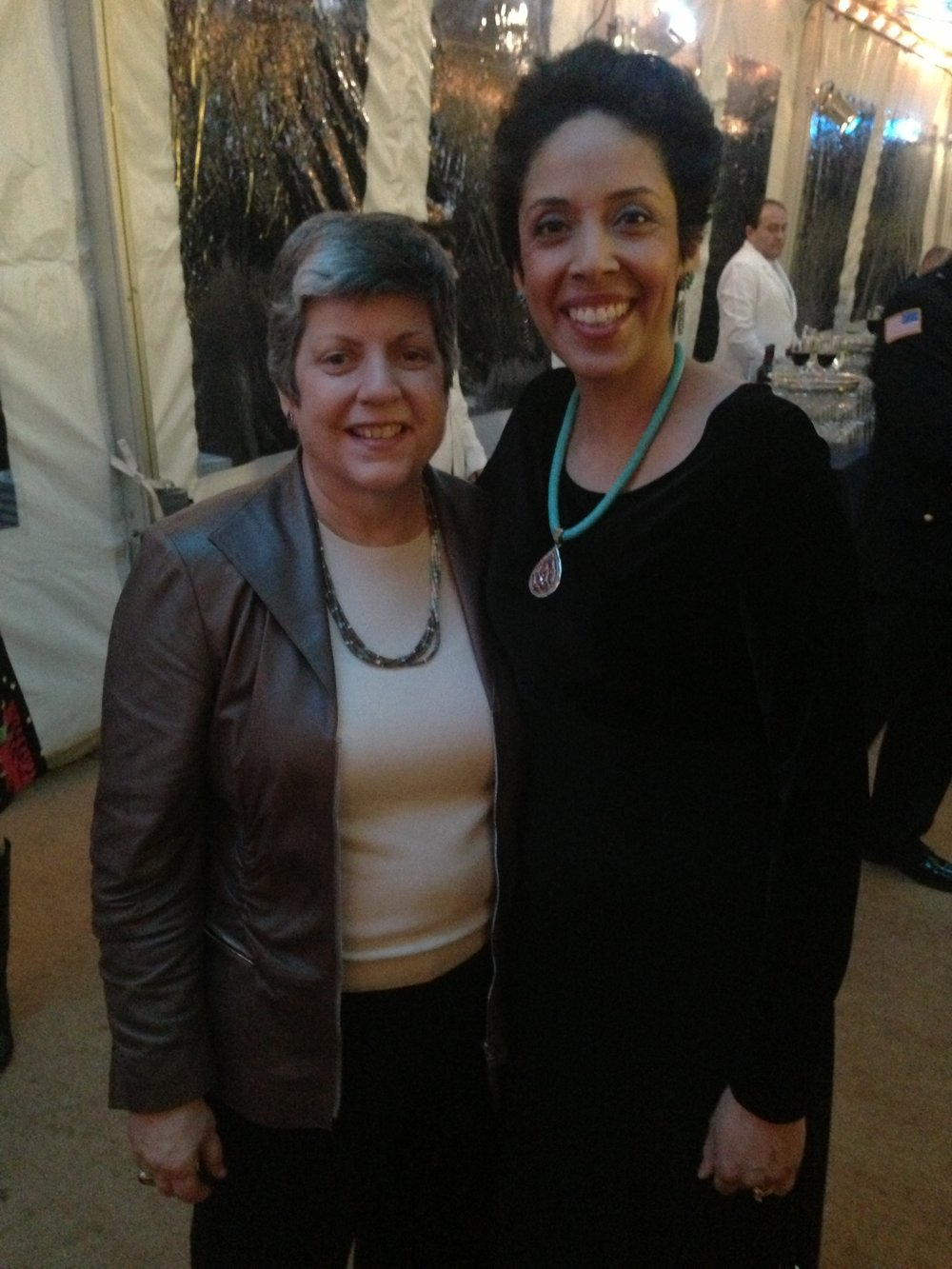 Former Governor of Arizona Janet Napolitano with Anna Maria Chávez
