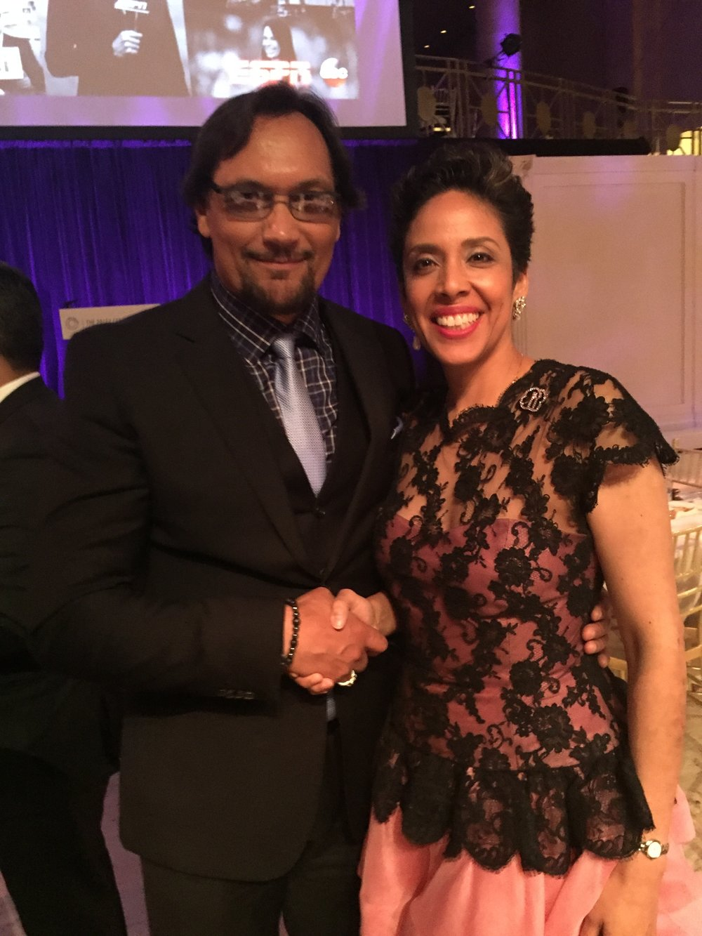 Actor Jimmy Smits with Anna Maria Chávez