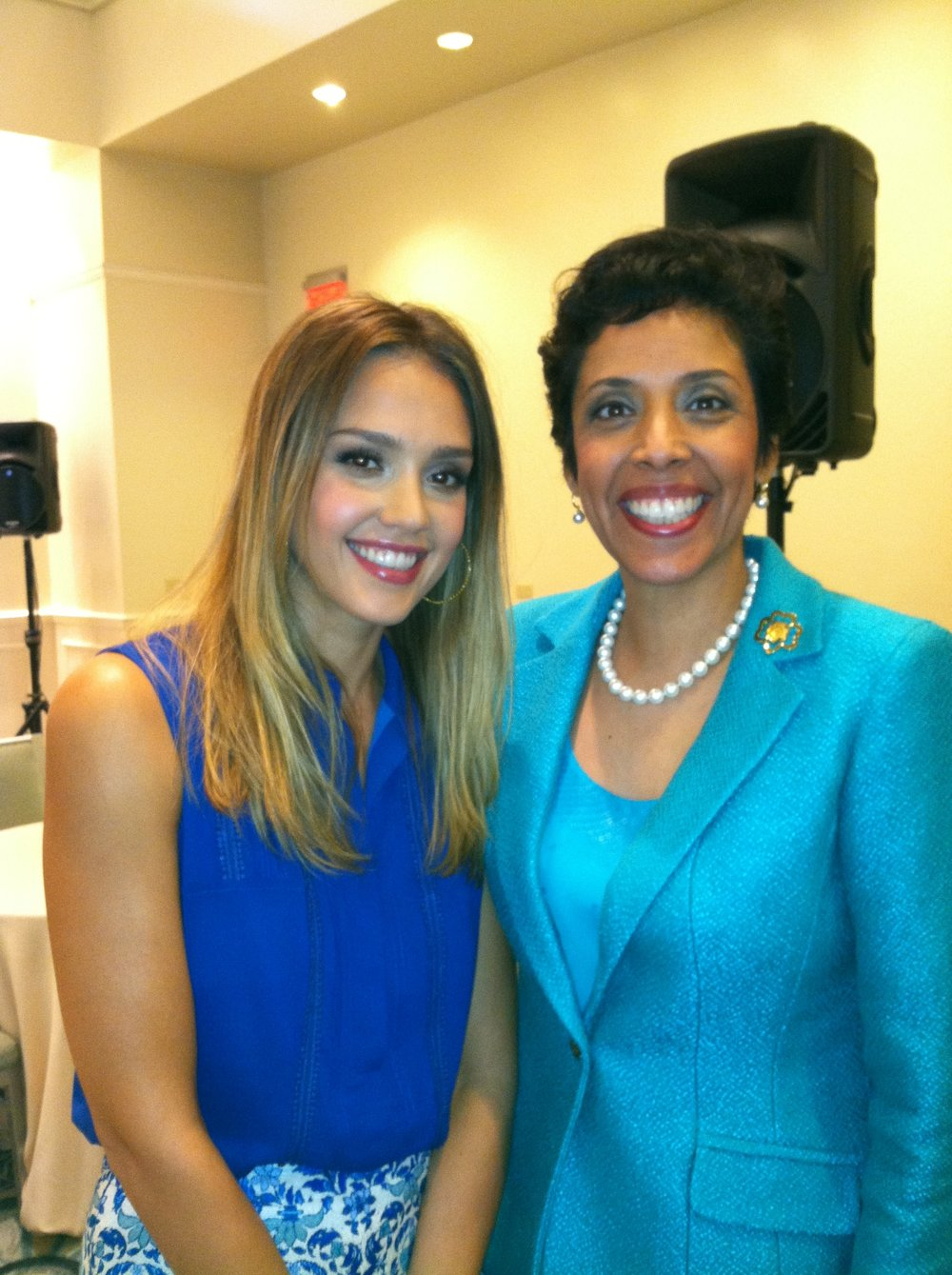 Actor & Entrepreneur Jessica Alba with Anna Maria Chávez
