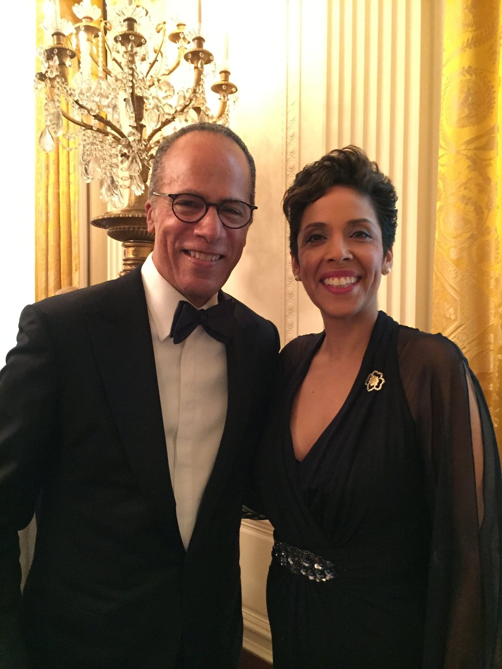 News Anchor Lester Holt with Anna Maria Chávez