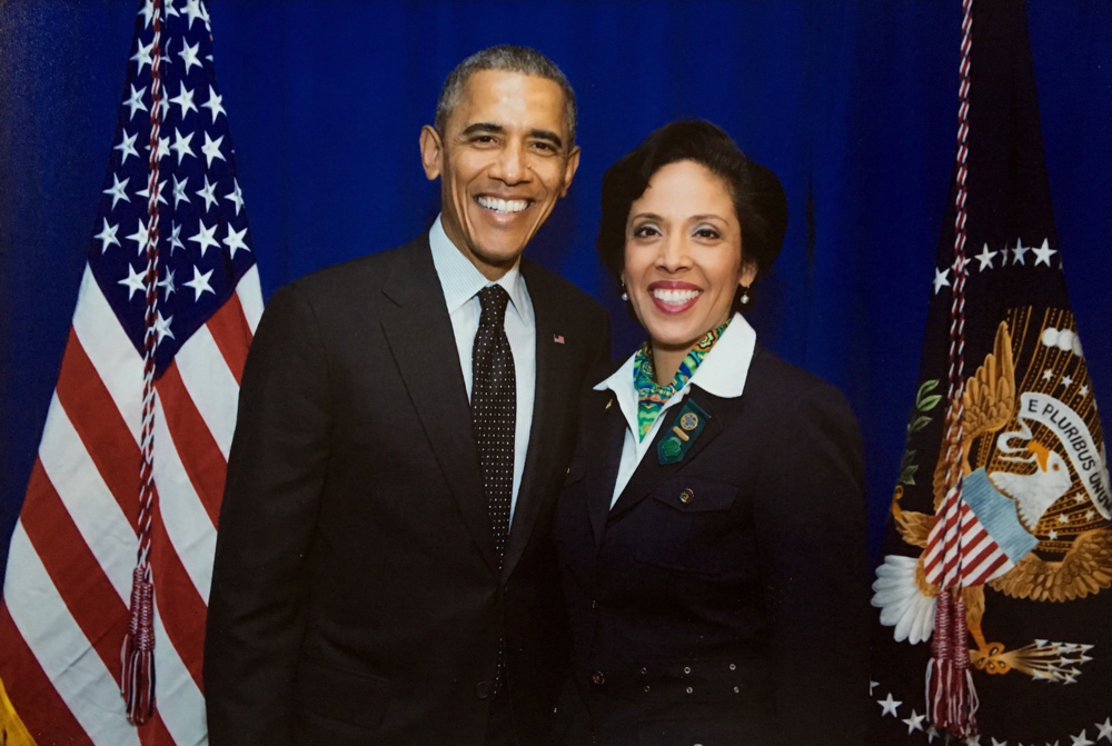 President Barack Obama with Anna Maria Chávez