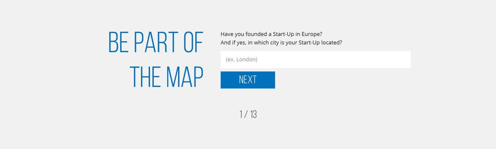 Startup heatmap survey