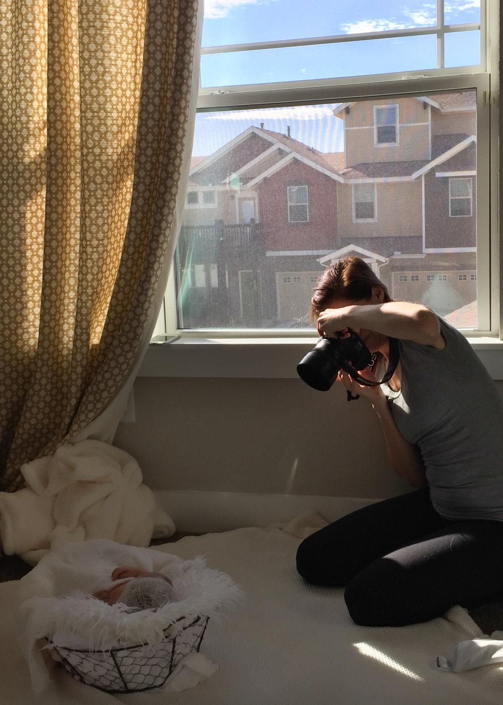 Behind the Scenes - Austin Newborn Photographer