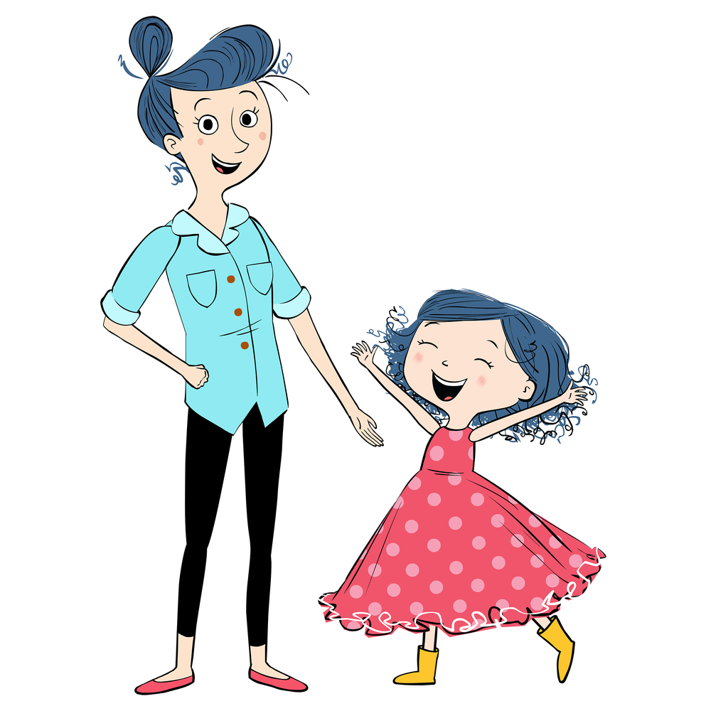 Dot and her mom
