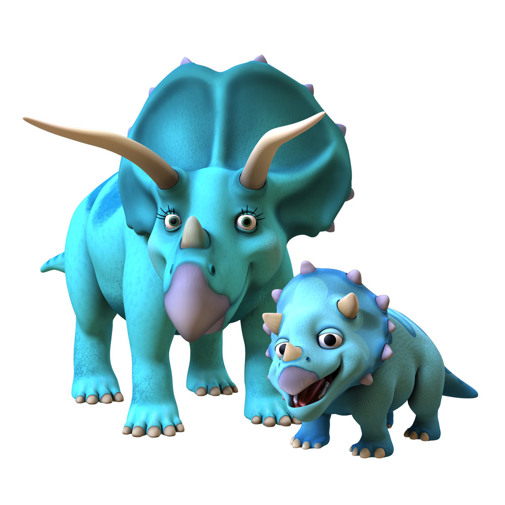 Trudy and Tank Triceratops from Dinosaur Train