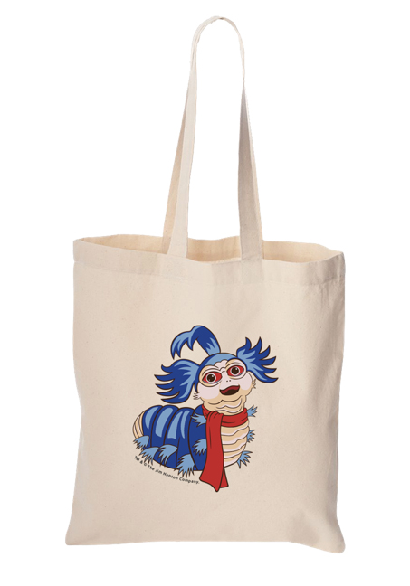 """Ello Worm"" Canvas Tote"