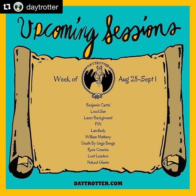 #Repost @daytrotter (@get_repost) ・・・ This week's new session line up is 🔥! Which ones are you most excited to hear?