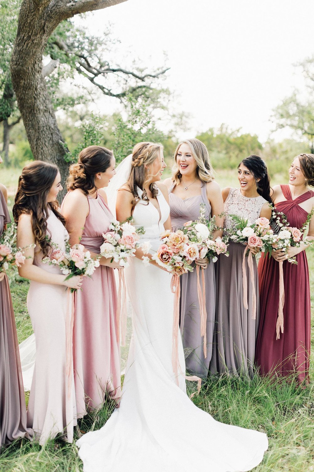 Bridal party florals by Color Theory Collective