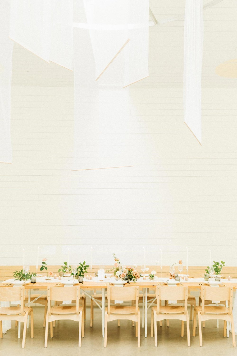 Portland wedding reception florals by Color Theory Collective