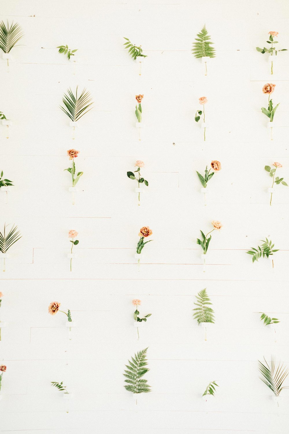Color Theory's Portland wedding wall floral design by Color Theory Collective
