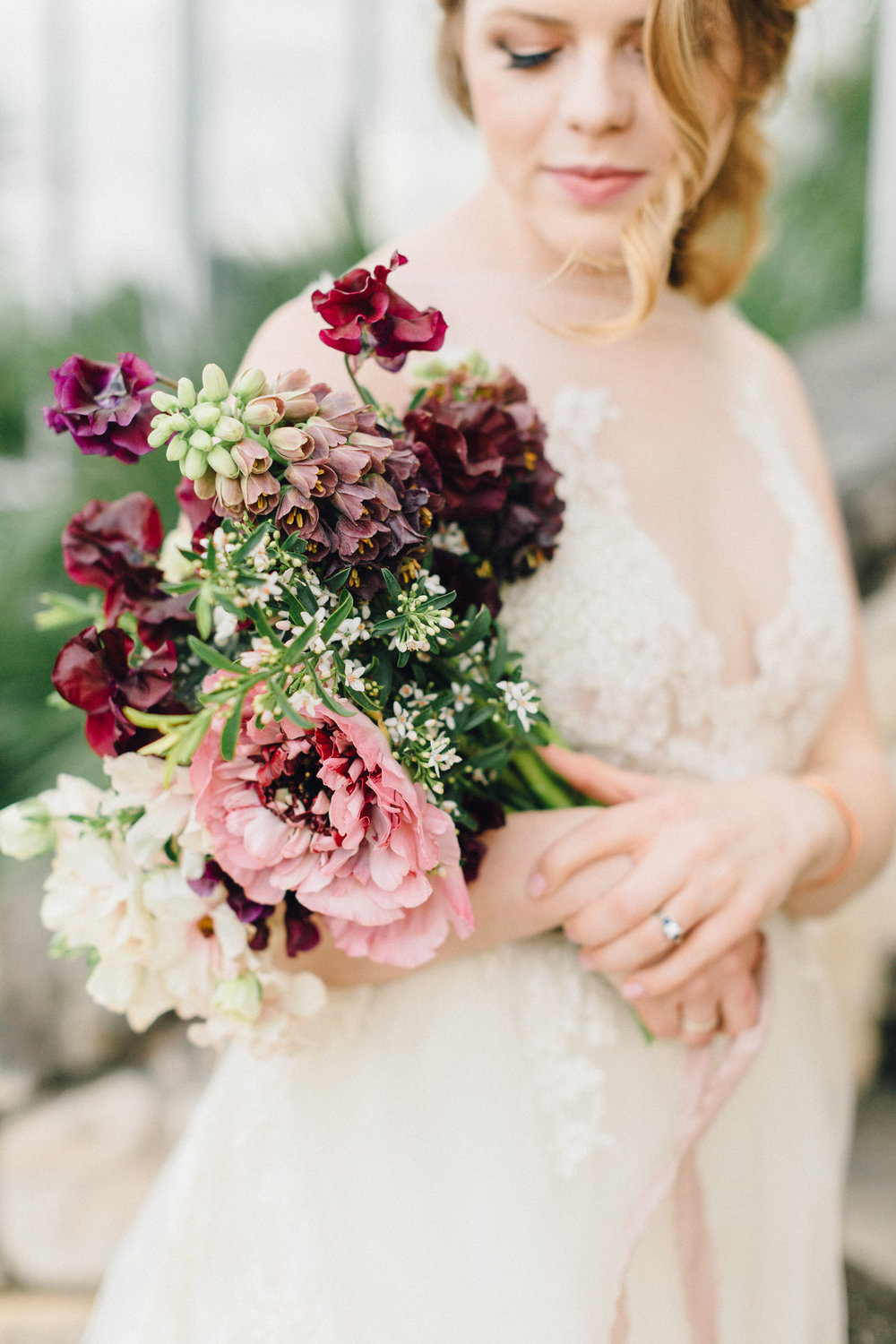 Holiday wedding floral package by Portland Oregon florist