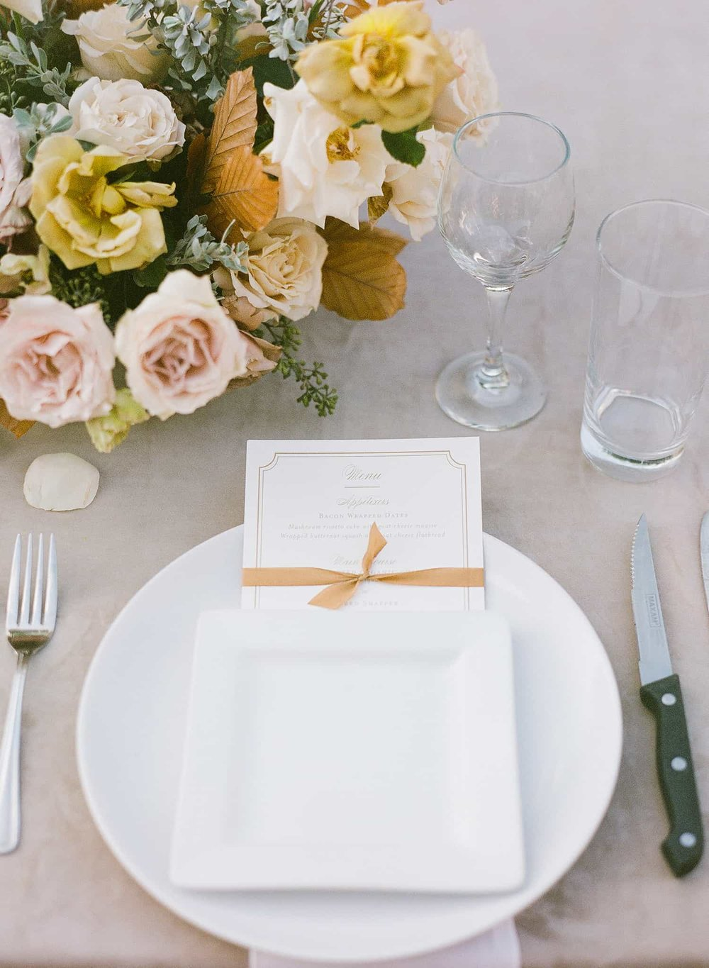 Table floral centerpiece by Color Theory Collective