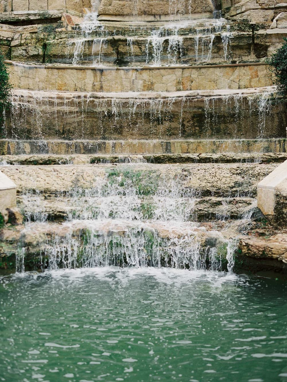 Wedding venue waterfall