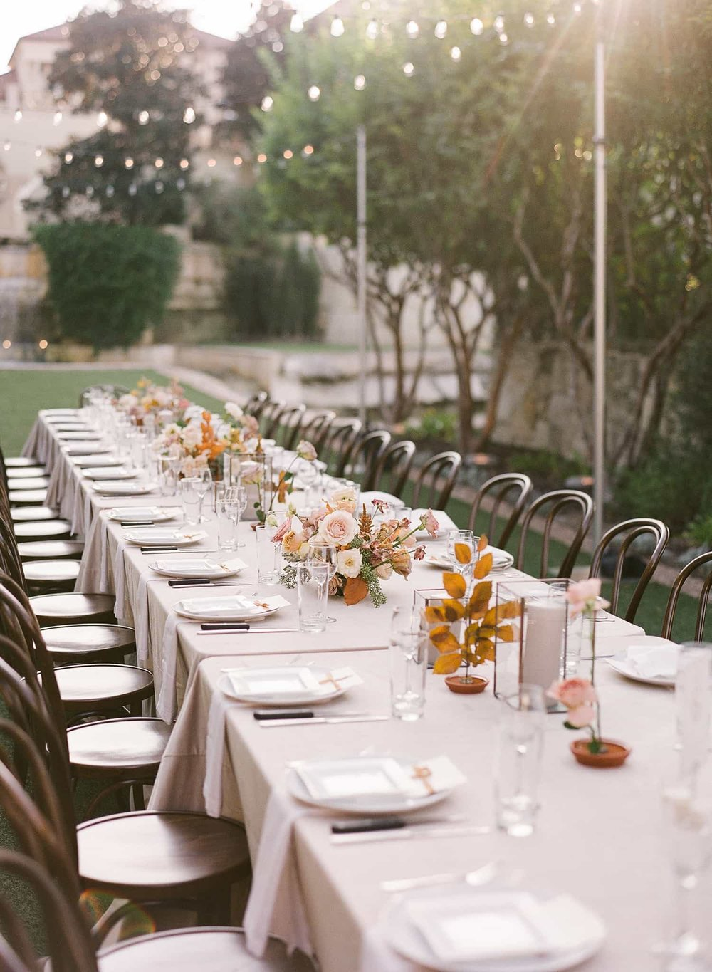 Flowers for wedding reception by Color Theory Collective