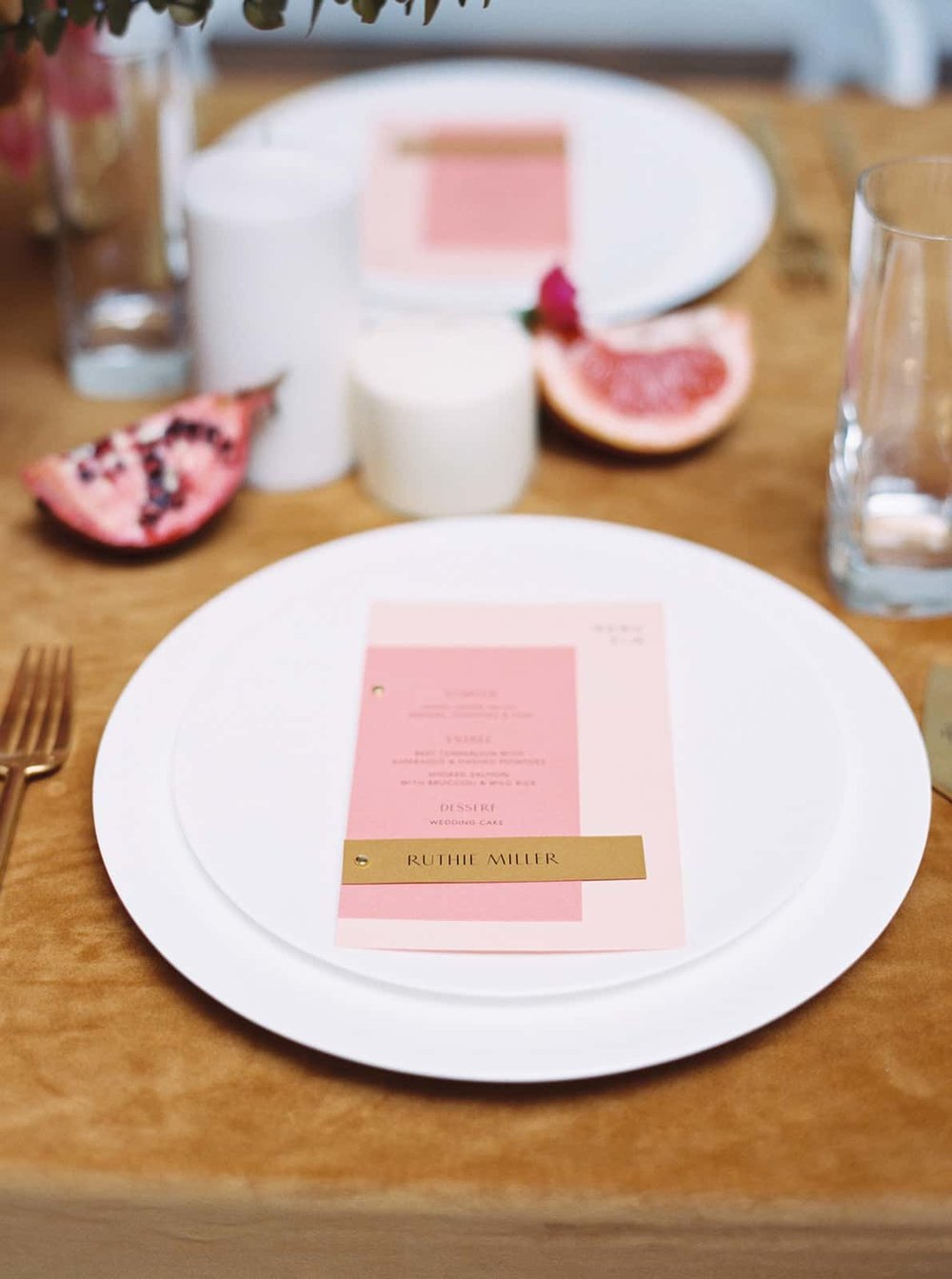 Beautiful wedding stationary with flowers by Color Theory Collective