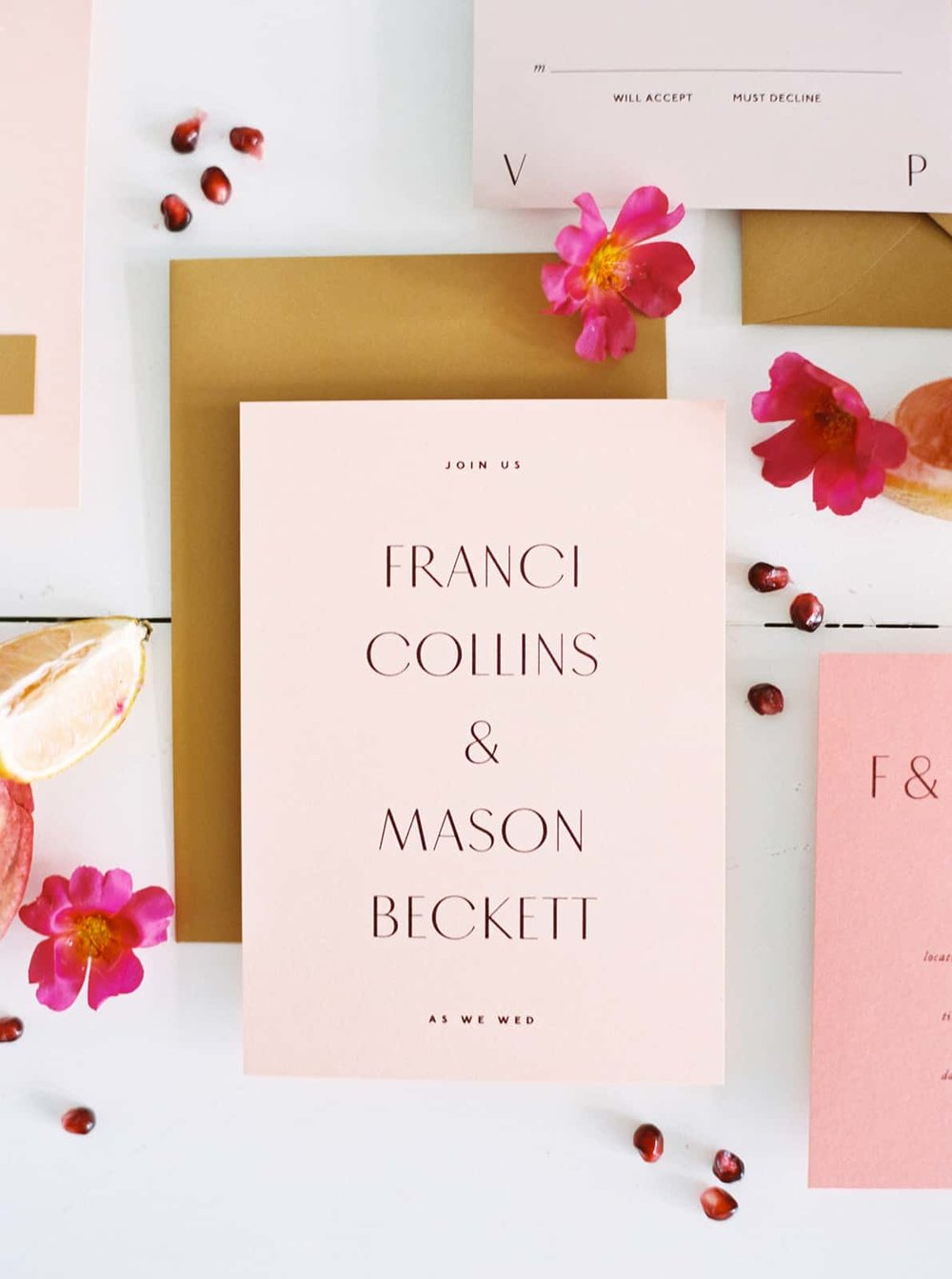 Gorgeous stationary and wedding styling by Color Theory Collective