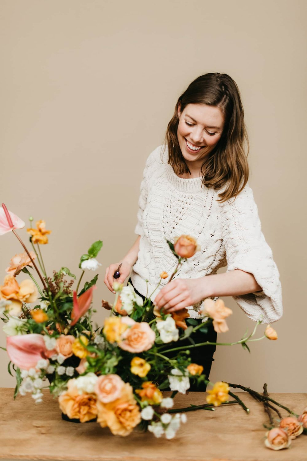 Portland Florist Color Theory Collective Designs A Flower Arrangement for Delivery