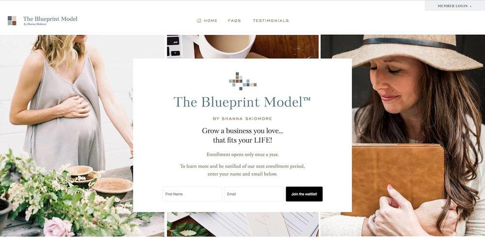 The Blueprint Model - By Shanna Skidmore