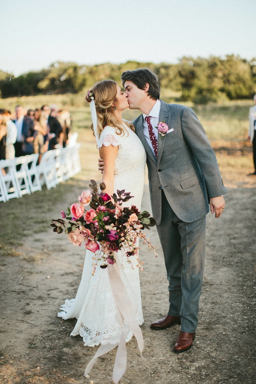 Dark and romantic bridal bouquet