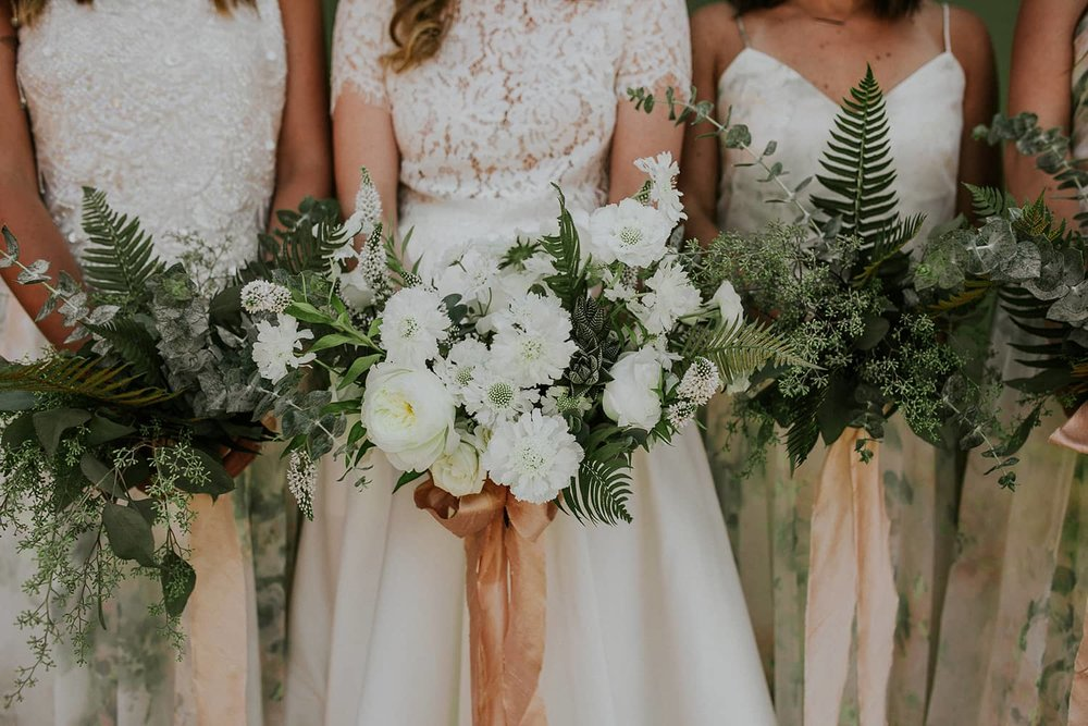 Pacific Northwest textures in this bridal bouquet by Color Theory