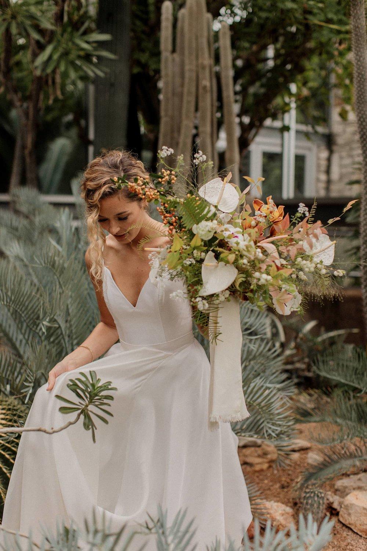 Textured bouquet designed for Portland bride