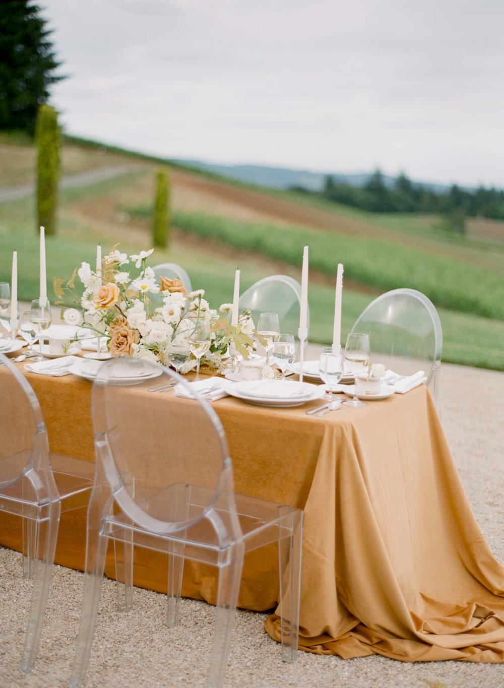 Wedding Table Scape designed for Portland couple