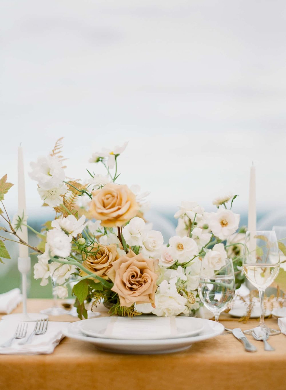Detailed Photograph of Wedding Table