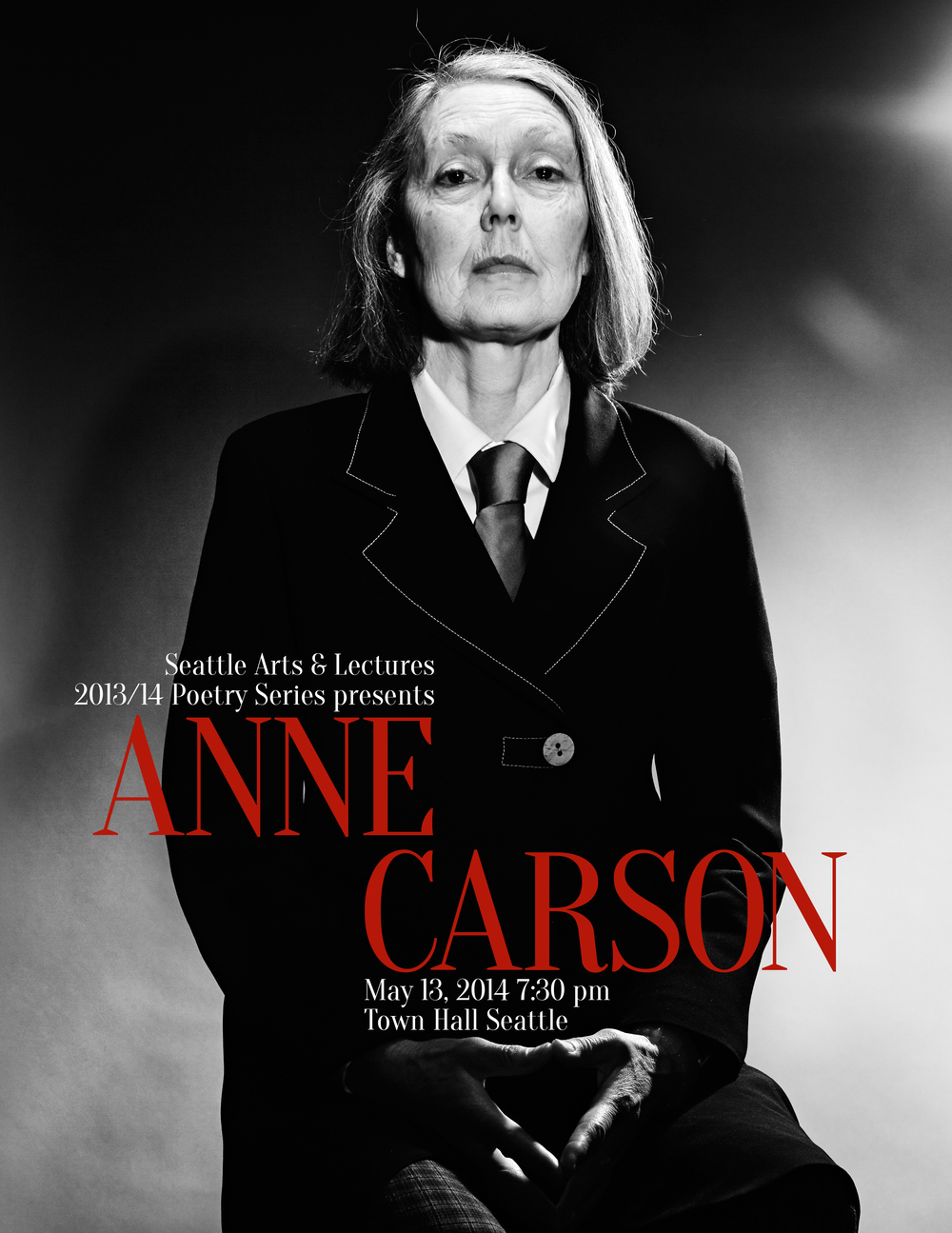 Anne Carson poster - Seattle Arts and Lectures