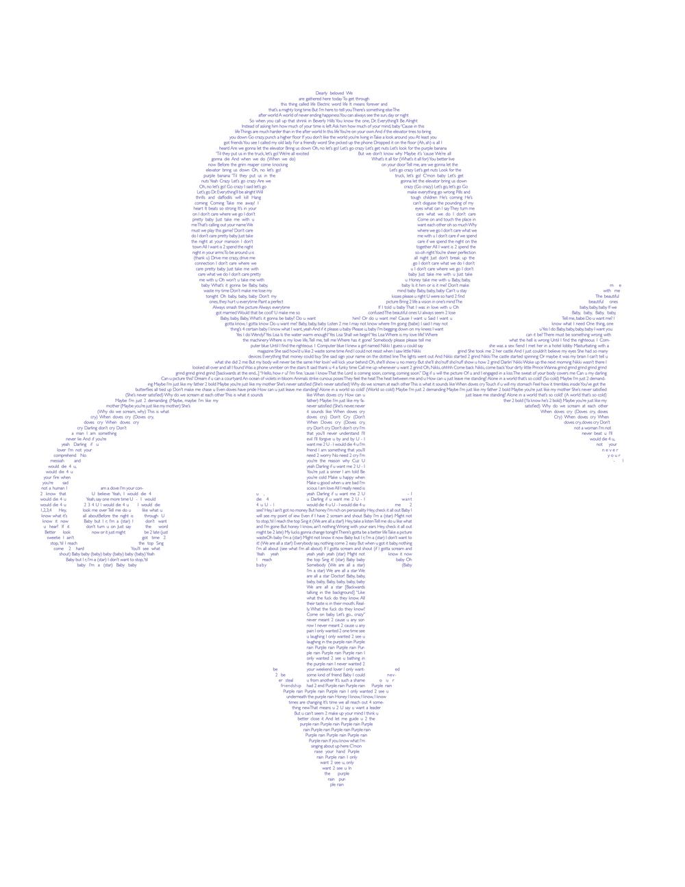 Prince poster, print, 2013