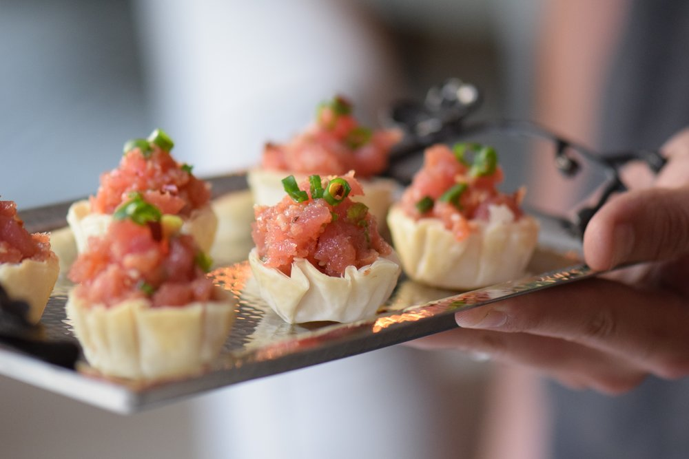 TUNA TARTARE IN PHYLLO BASKETS