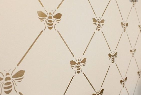 The Honey Bee Stencil Became Focal Piece In Design And My Other Ideas Have Stemmed From It Next We Had To Pick A Color Scheme