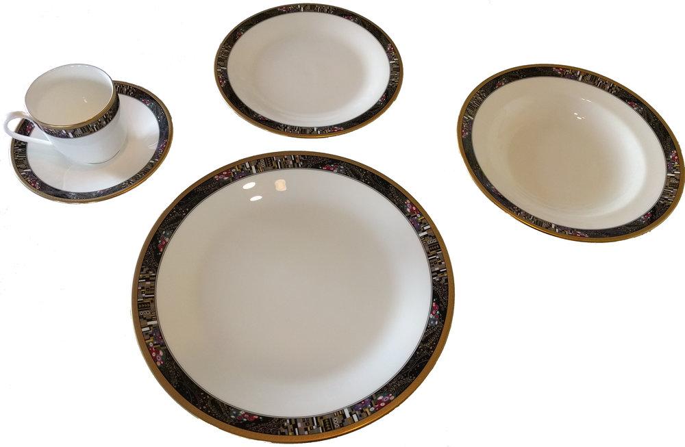 "Mikasa ""Royal glimmer"" 20 piece bone china set: retail ~$500"