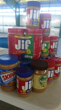 Chuck Colvin Ford Nissan PB Drive raised 409 pounds of peanut butter! (June 2017)