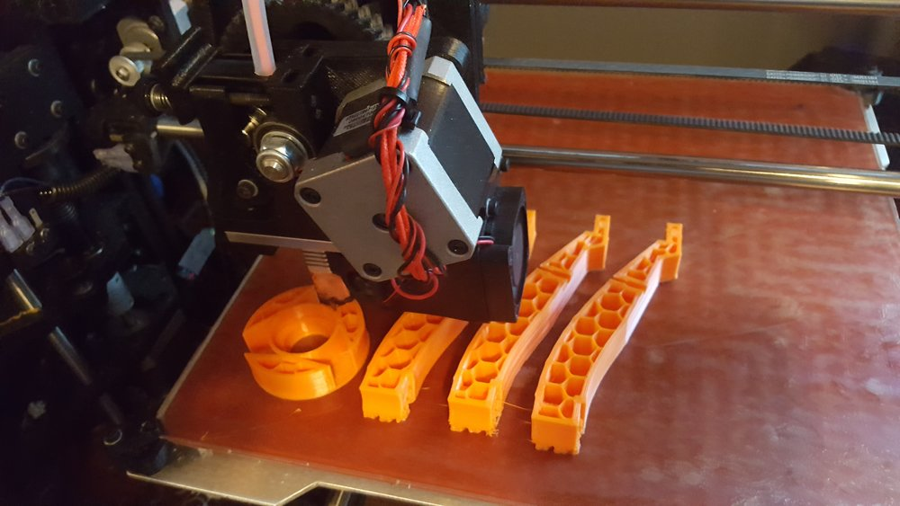 Printing with a light infill.  12% with 3 perimeters.