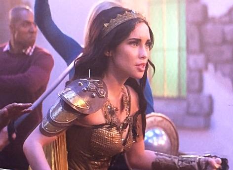 Priscilla Quintana filming Clash of Kings