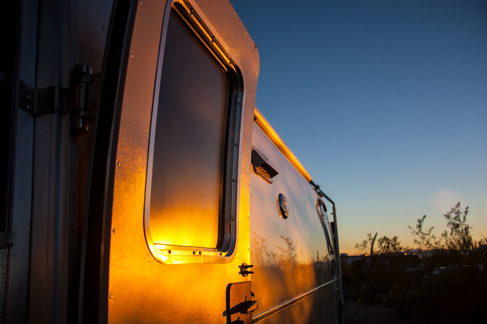 Golden hour at Gilbert Ray campground.
