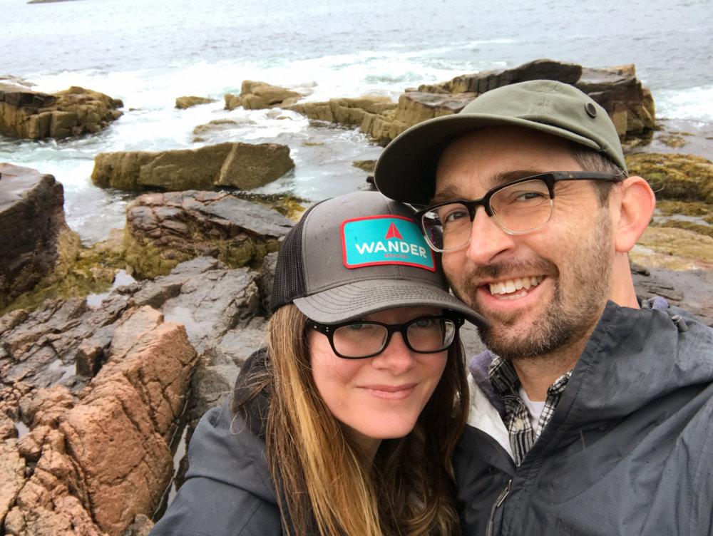 Selfies by the sea.