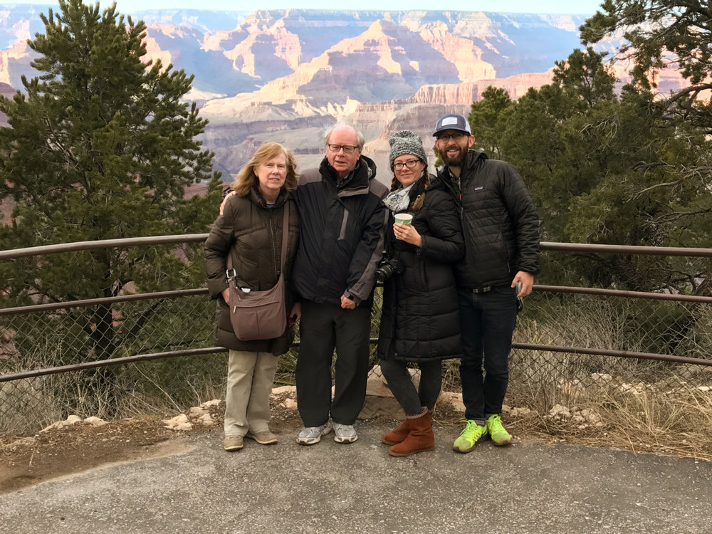 Grand Canyon road trip, February 2017.