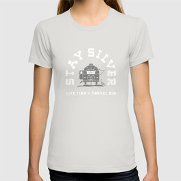 $24.99 on Society6 • Stay Silver T-Shirt by Busy Campers