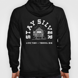 $46.99 on Society6 • Stay Silver Hooded Sweatshirt by Busy Campers