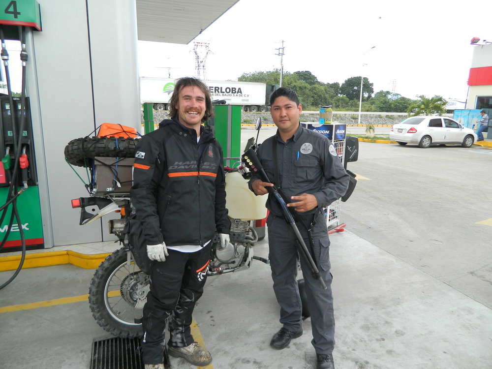 Buying Gas in Vera Cruz