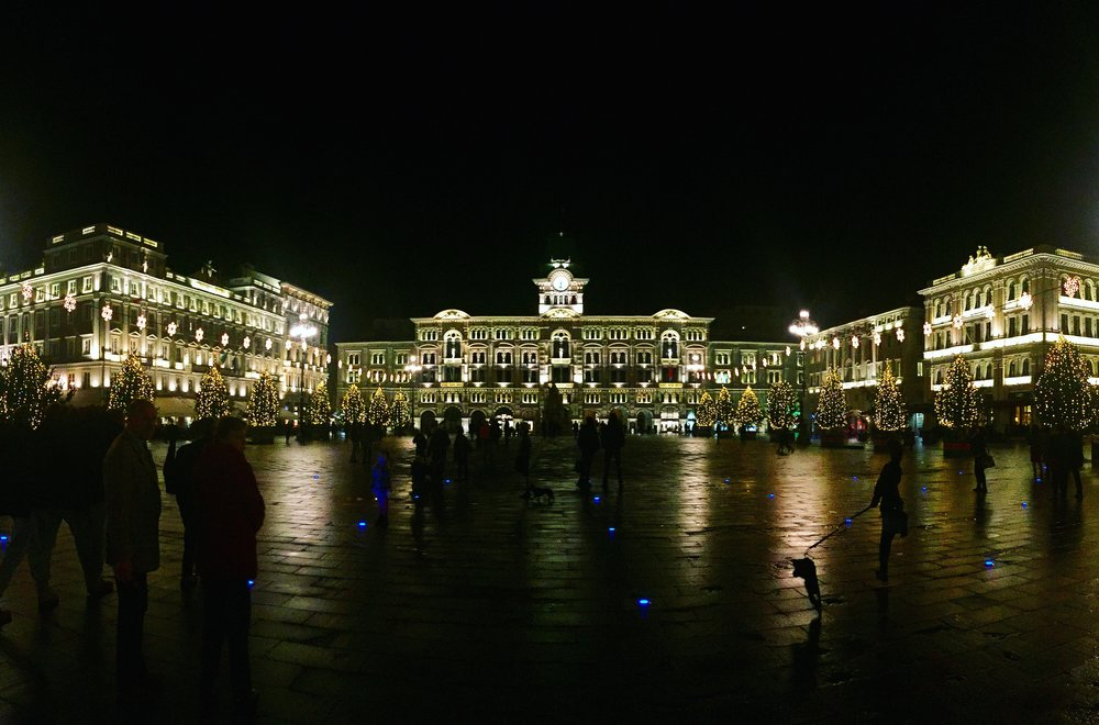 The square in Trieste. Worth the creepy hostel experience in Zagreb.