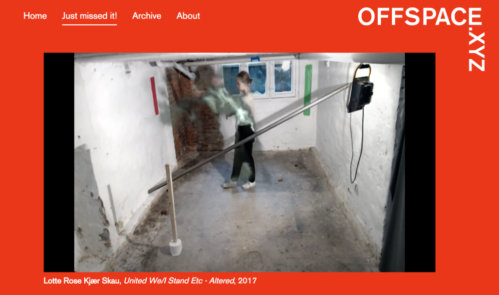 Lotte Rose Kjaer Skau.  United We / I Stand etc-- Altered, 2017. all images courtesy of offspace.xyz and maxime van melkebeke