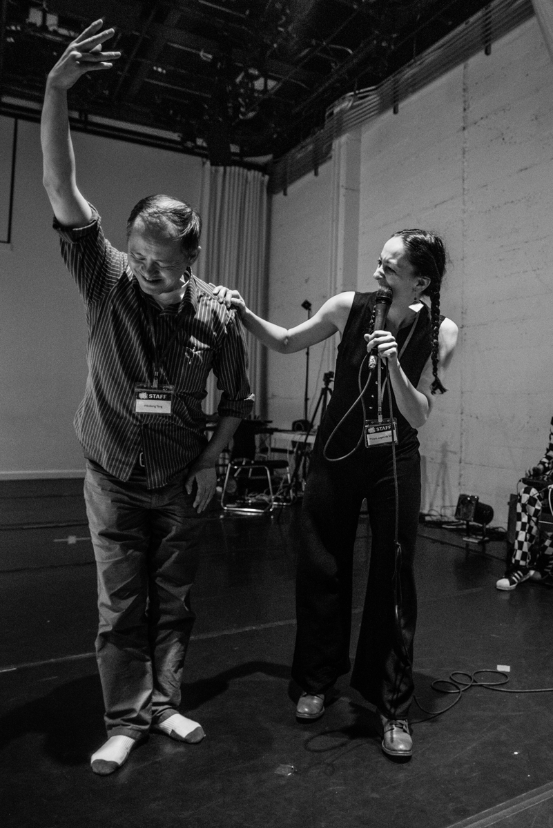 Weidong Yang and Daiane Lopes da Silva, founders of Kinetech Arts, at DanceHack 2017. Photo by Robbie Sweeney