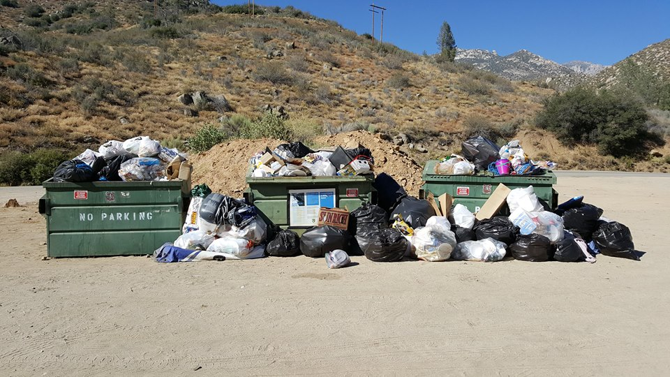 Privately donated funds used to lease trash bins provided for campers to dispose of camp trash.