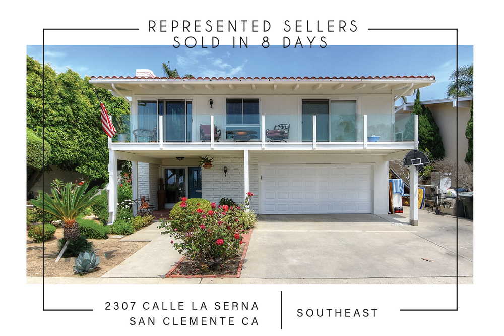 SOLD 9/15/2017    $1,175,000   2307 calle la serna SAN CLEMENTE CA